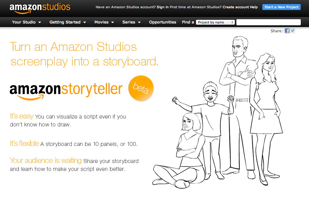 ストーリーのコンテを作ることが出来るサービス