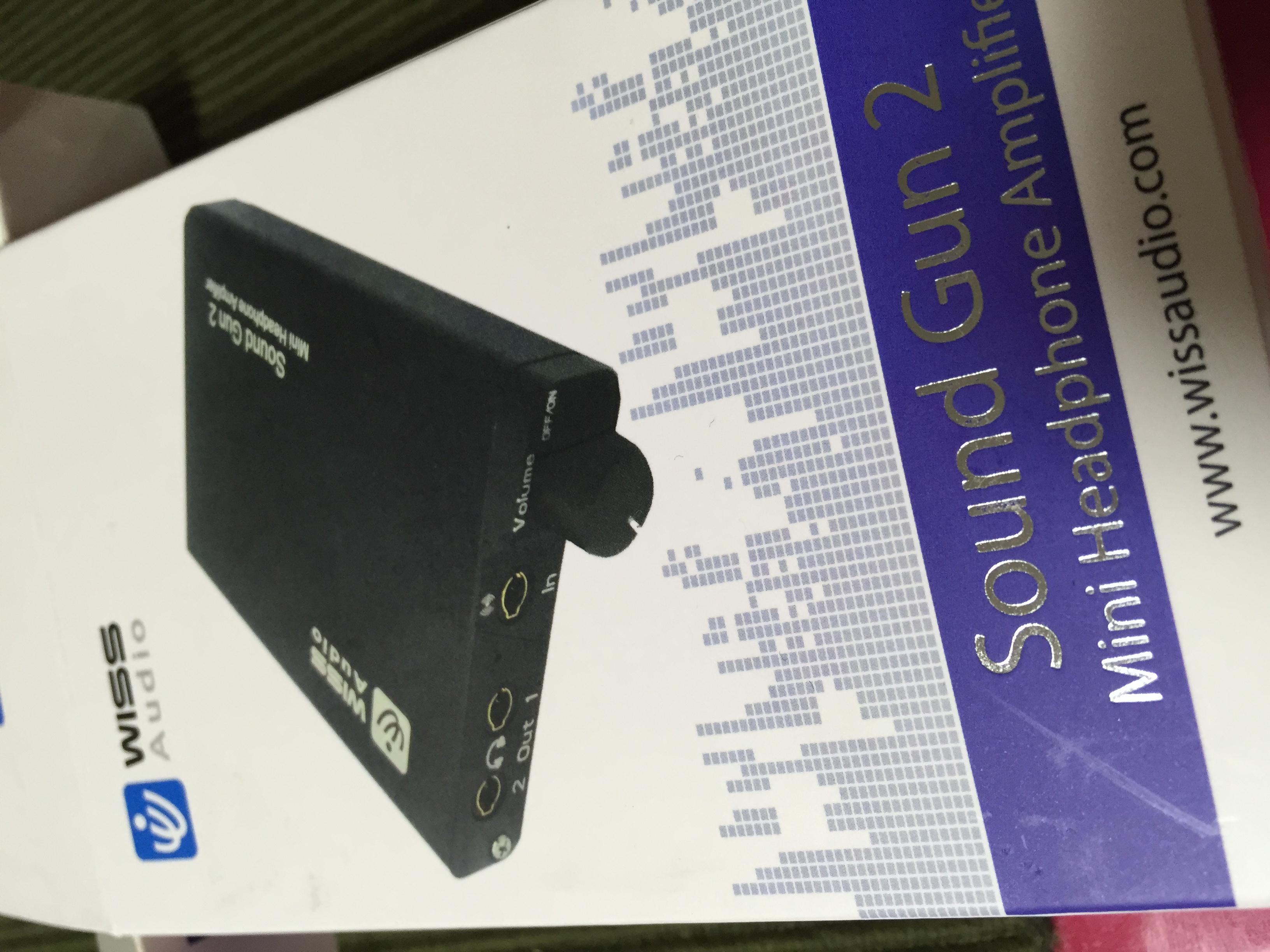 ヘッドフォンアンプSoundGun2を導入