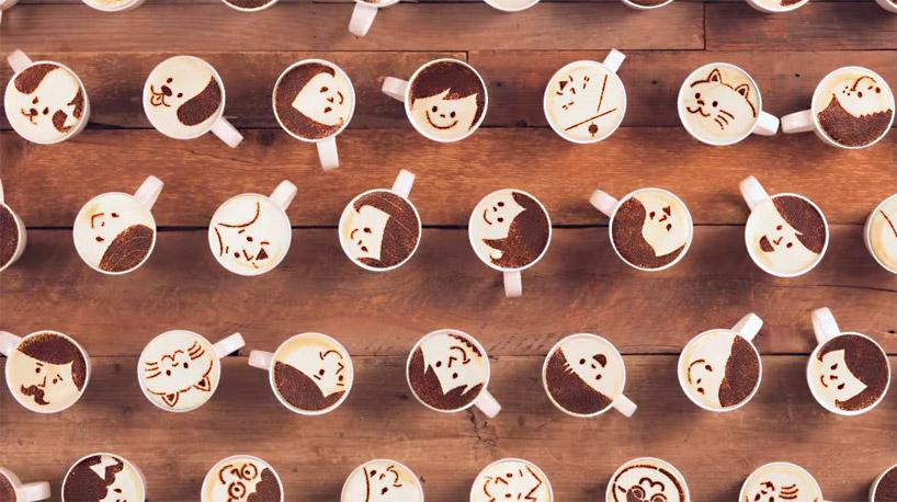 1000杯のラテで作られたアニメーション
